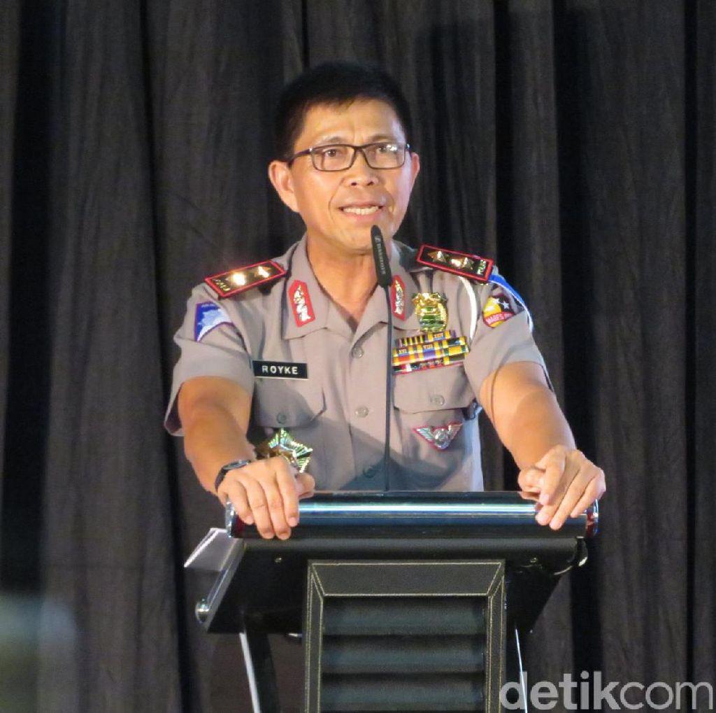Polisi Tilang dan Sita Rotator Komunitas Pajero yang Lawan Arah