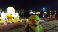 Mengulik soal bebek, ada satu tempat yang menjadi landmark-nya. Tempat itu berupa danau yang juga digunakan sebagai taman untuk umum, namanya Nong Prajak Park and Lake (Masaul/detikTravel)
