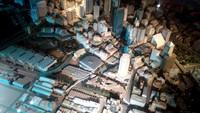 Foto: Di lantai dasar Customs House, terdapat miniatur Kota Sydney yang sangat detail dan skalanya cukup besar. Ukurannya pun tidak main-main, yaitu dengan panjang 4,2 meter x lebar 9,5 meter, dengan berat total mencapai 1 ton (Wahyu/detikTravel)