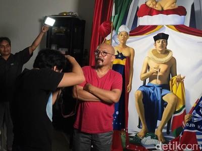 Dewi Sukarno dan Cerita Malaikat Penuntun di Lukisan Bung Karno
