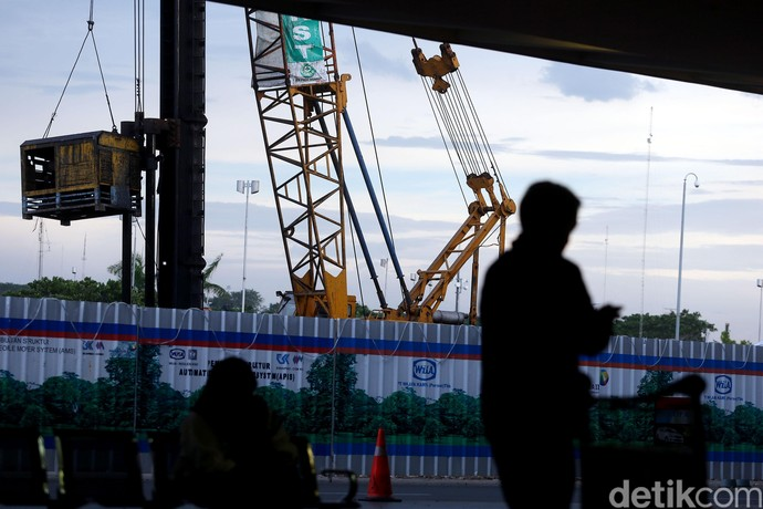Pembangunan Stasiun Kereta Bandara Soetta Dikebut