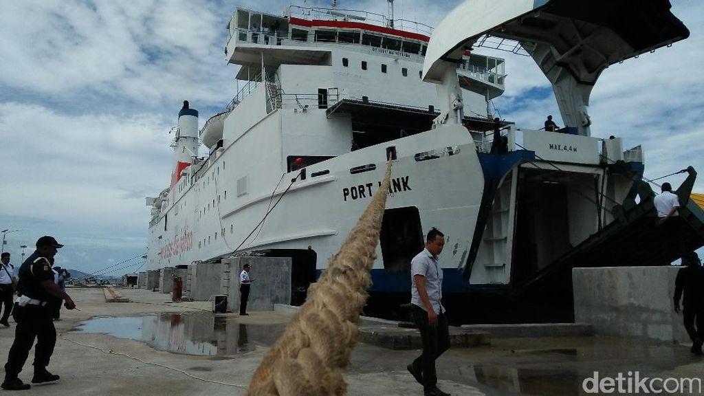 Beroperasi April, Dermaga VI Pelabuhan Merak Diuji Coba