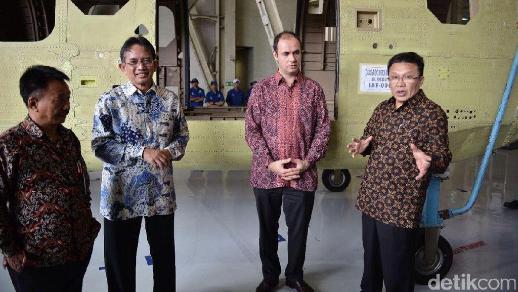 Komponen Helikopter H225 Made in Bandung Dikirim ke Airbus