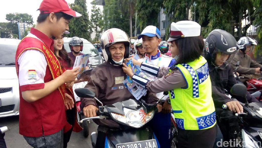 Operasi Simpatik, Honda Turut Bagikan Helm SNI