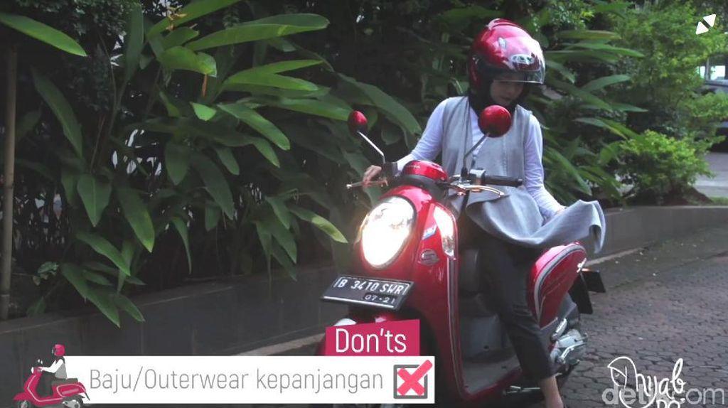 Ramai Gamis Tersangkut di Motor, Hijabers Perhatikan Hal Ini Saat Berkendara
