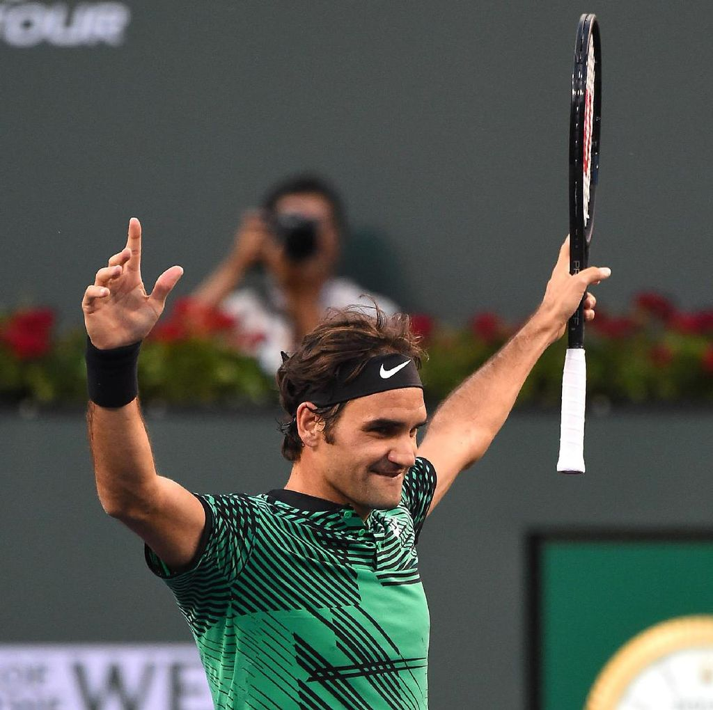 Angka-Angka Menarik dari Gelar Juara Kelima Federer di Indian Wells