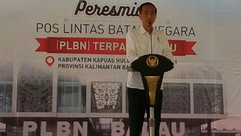 Jokowi Resmikan Beroperasinya PLBN Nanga Badau