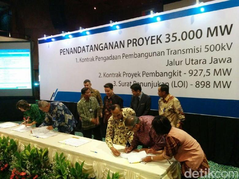 PLN Teken 16 Kontrak Proyek Listrik Rp 21 Triliun