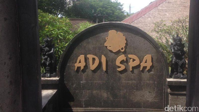 Adi Spa beralamat di Jl By Pass Ngurah Rai No 51, Mumbul, Nusa Dua. Tempat spa ini sudah berdiri sejak tahun 1998 dan merupakan yang pertama di Nusa Dua (Afif/detikTravel)