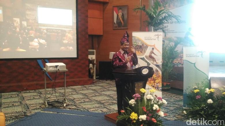 Arief Yahya di acara peluncuran Calender of Event Riau 2017 (Wahyu/detikTravel)