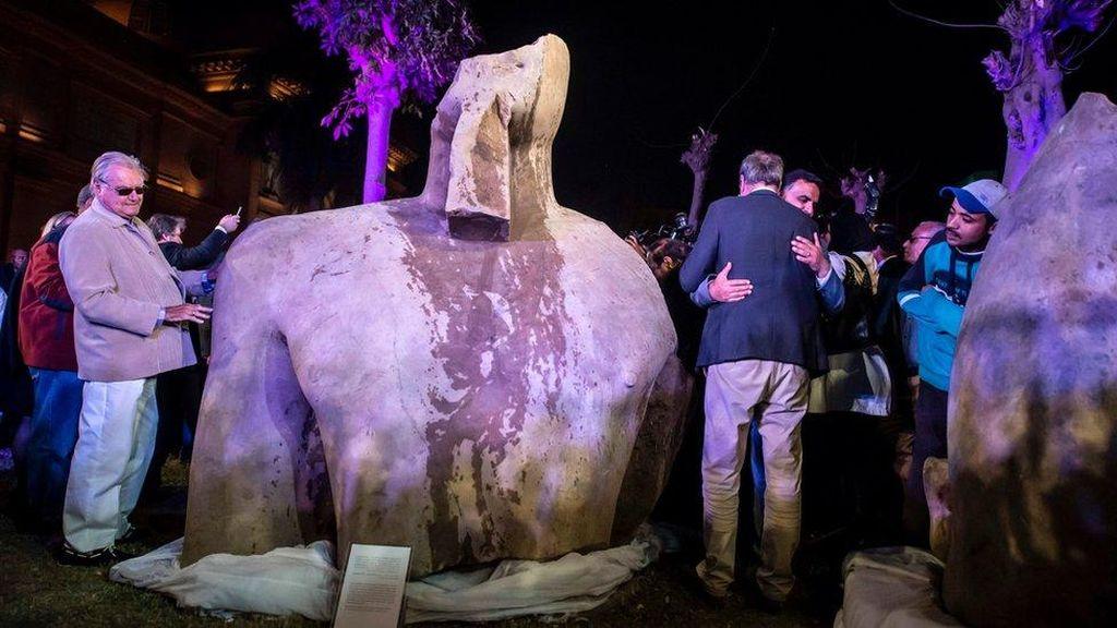 Patung yang Diangkat di Mesir Bukan Tiruan Firaun Ramses II