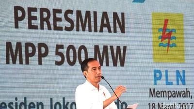 Diresmikan Jokowi, 8 Pembangkit Listrik Rp 8 T Ini Rampung 6 Bulan