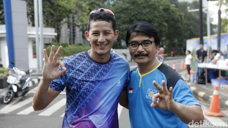 Lari Bareng Adhyaksa Dault, Sandiaga Diminta Benahi Jakarta