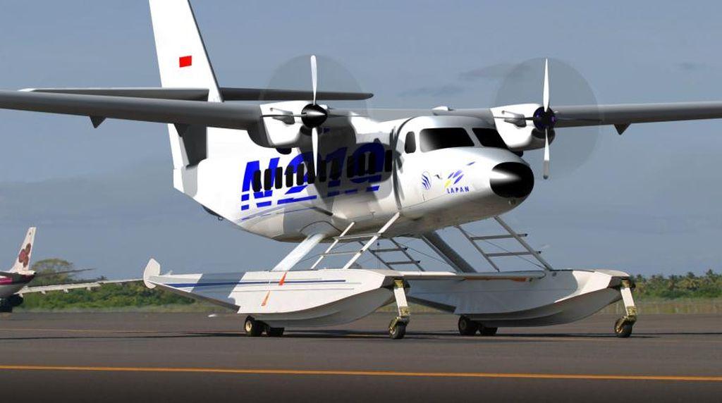 Bisa Mendarat di Air, Pesawat Buatan PTDI untuk Jangkau Daerah Terpencil