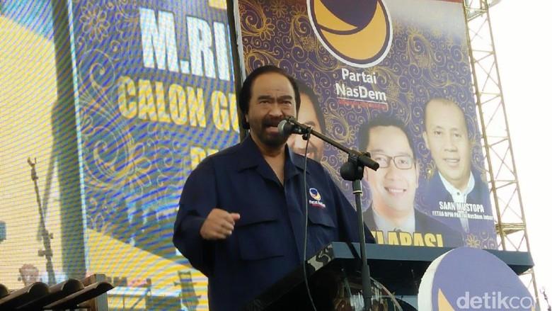 Surya Paloh Yakin Parpol Lain Usung Ridwan Kamil Jadi Cagub Jabar