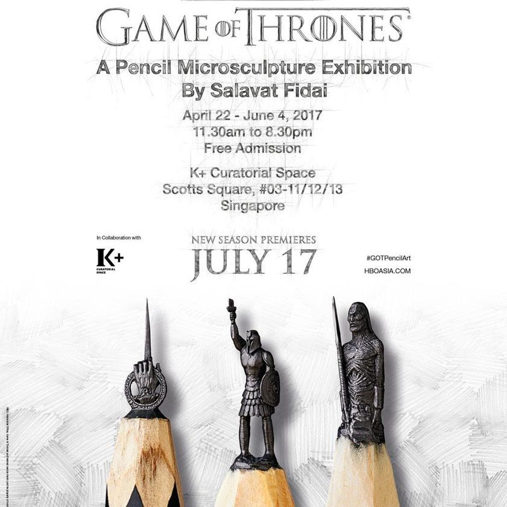 Pameran Ukiran Mikro Pensil Game of Thrones Digelar di Singapura April