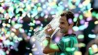 Kalahkan Wawrinka, Federer Raih Titel Kelima di Indian Wells