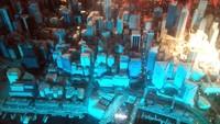 Foto: Tata lampu ini memberikan efek tambahan yang keren bagi penampakan maket Kota Sydney tersebut. Replika kota ini dilengkapi pula dengan nama kawasan atau bangunan, sehingga traveler yang melihatnya mendapat informasi yang jelas tentang bangunan tersebut (Wahyu/detikTravel)