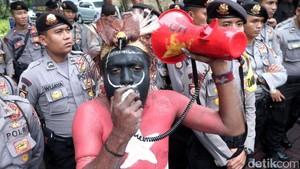 Demo Tuntut Tambang Freeport di Papua Ditutup