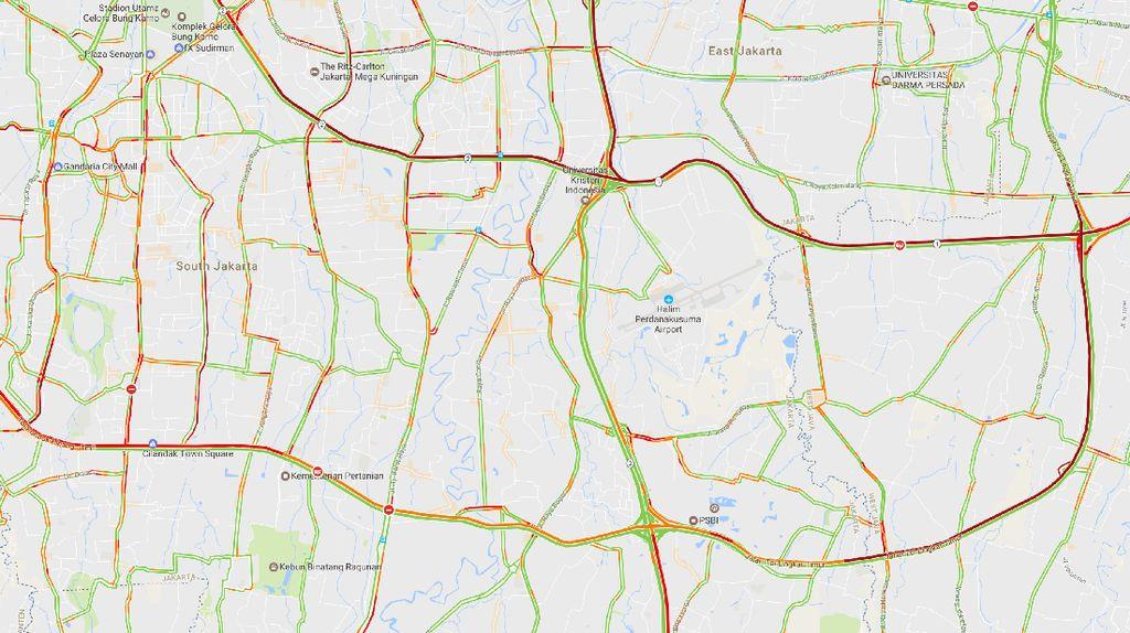 Ada Proyek LRT, 3 Titik Tol ke Luar Jakarta Macet