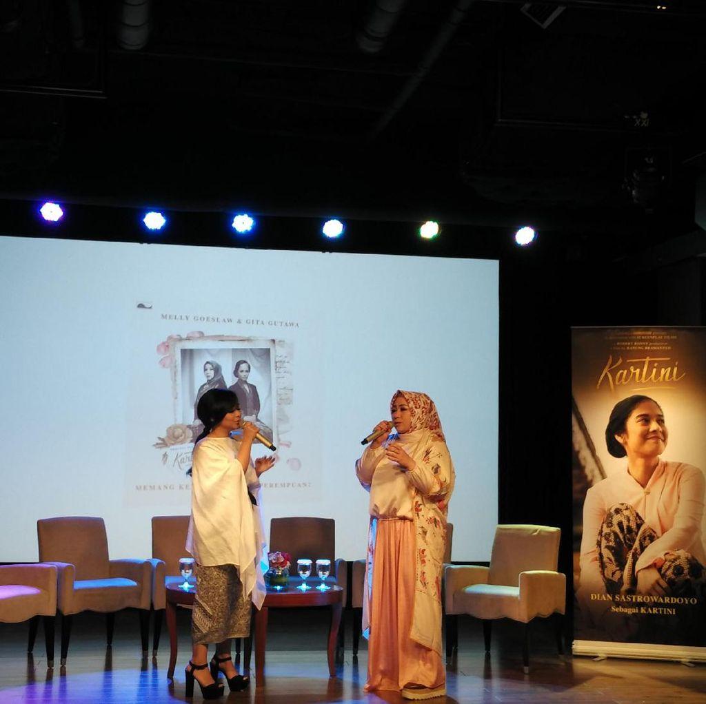 Melly Goeslaw dan Gita Gutawa Nyanyikan Lagu untuk Film Kartini