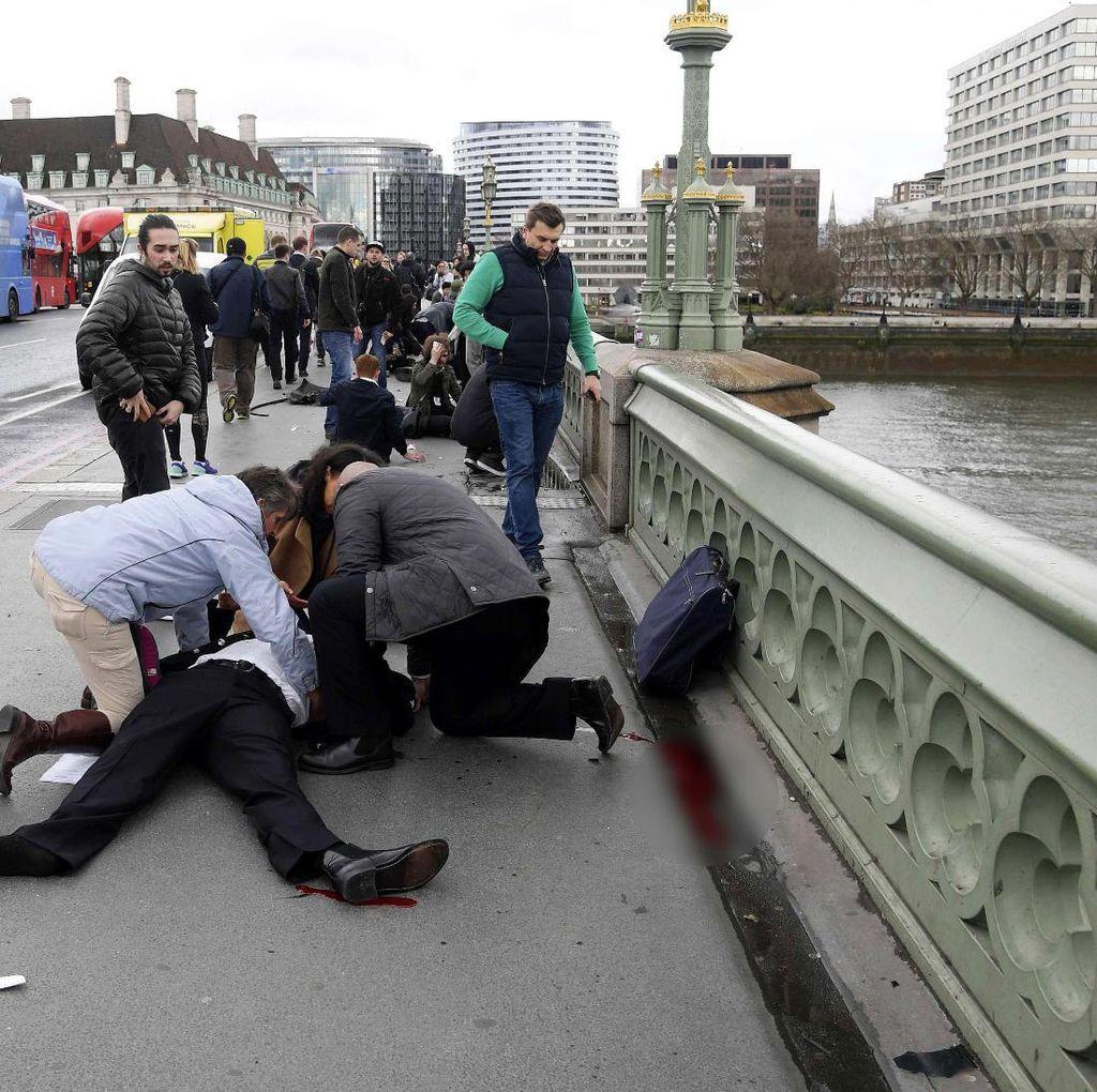 Belasan Orang Terluka Akibat Penembakan di Gedung Parlemen Inggris