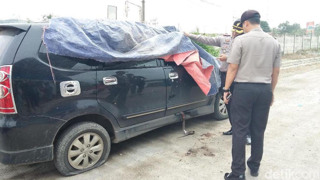 Ini Mobil Terduga Teroris di Cilegon, Bodi Berlubang karena Didor
