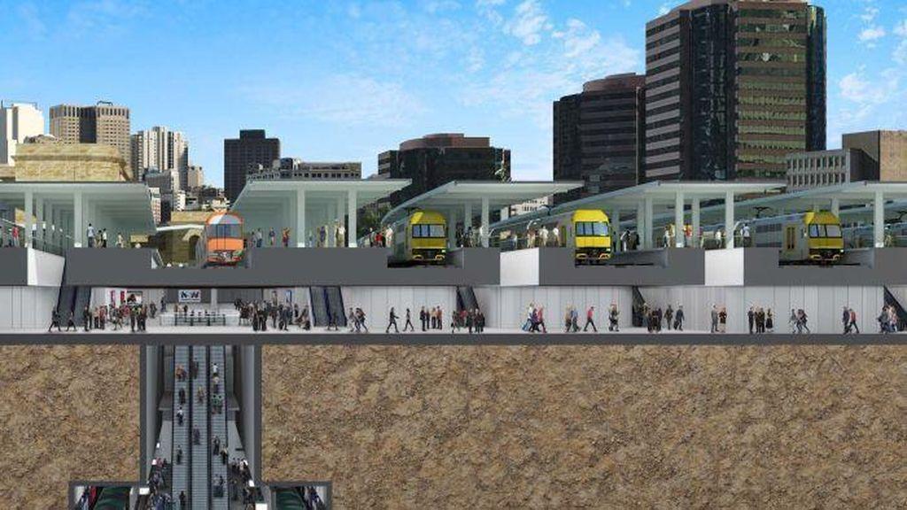 Stasiun Central Sydney akan Dimodernisasi dengan Simpang Bawah Tanah