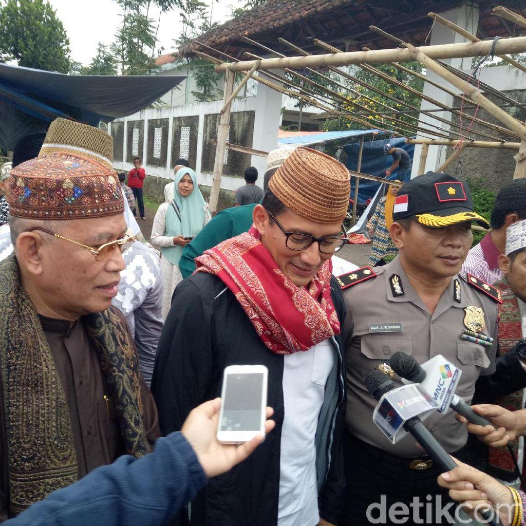 Sandiaga Ziarah Ponpes di Cianjur, Minta Doa Pimpin Jakarta
