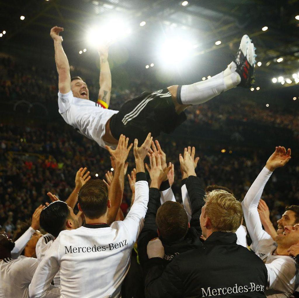 Podolski: Laga Terakhirku Bersama Jerman Seperti Sebuah Film