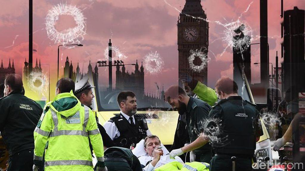 Foto Viral Teror di London yang jadi Kontroversi