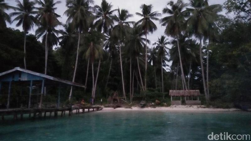 Pantai Sapokren terbilang cukup kecil kerena dikelilingi oleh bukit. Pantai ini bisa ditempuh melalui darat maupun laut. Kalau dari Kota Waisai, traveler akan menghabiskan sekitar 40 menit menuju pantai ini (Bonauli/detikTravel)
