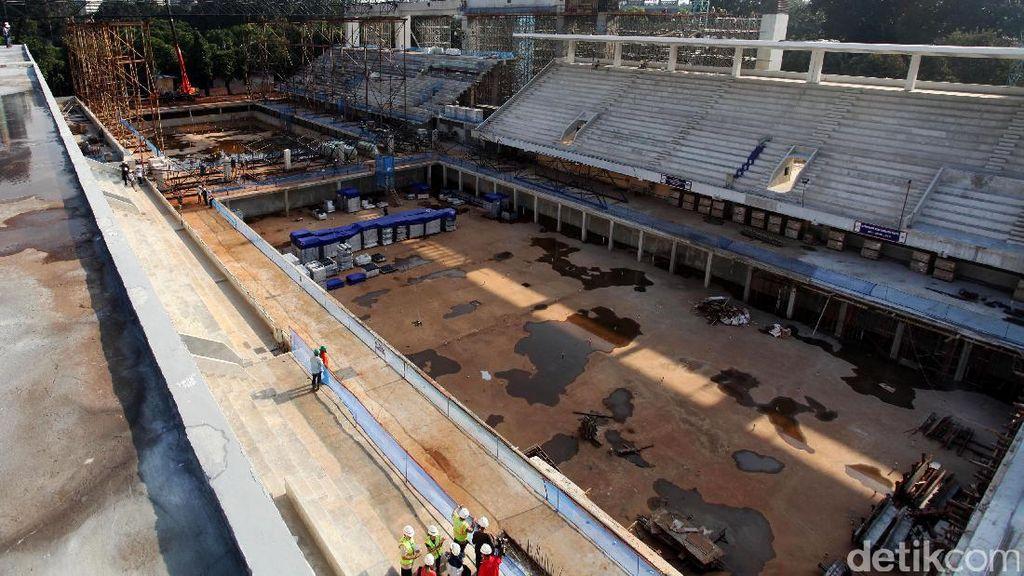 Renovasi Stadion Renang GBK Capai 40%