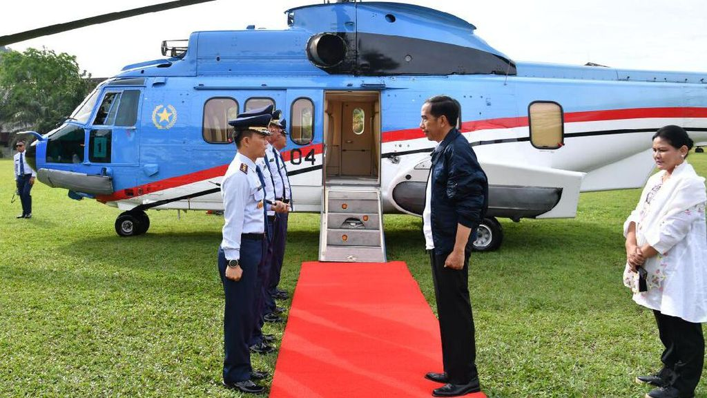 Naik Helikopter, Jokowi Datangi Makam Mahligai Barus Tapteng