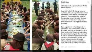 Pramuka Makan di Tanah Terjadi Tangerang, Sebagai Bentuk Sanksi