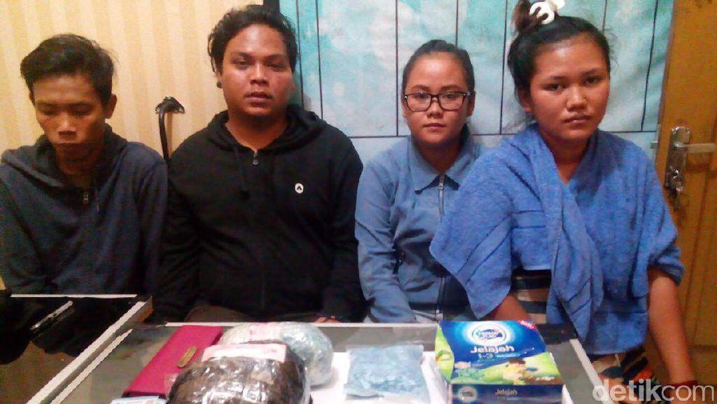 Polda Riau Tangkap 4 Orang yang Bawa Sabu dan 8.000 Ekstasi