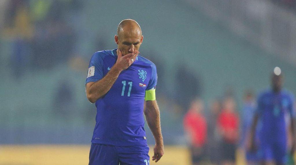 Belanda Ditekuk Bulgaria, Robben: Ini Mimpi Buruk