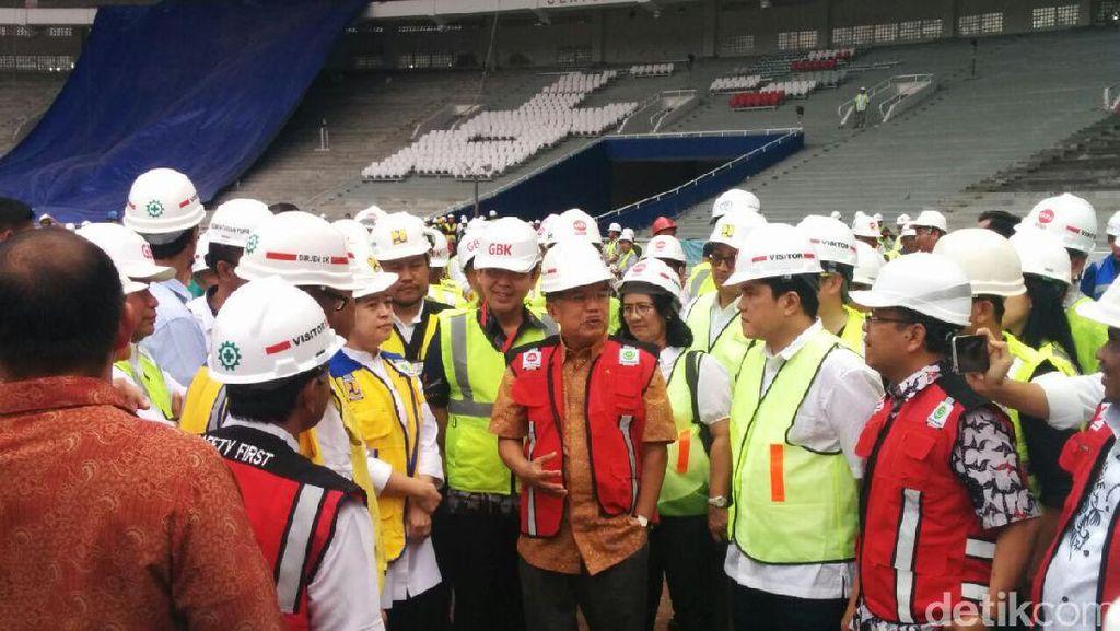 Hari Minggu, JK Blusukan Pantau Proyek Asian Games