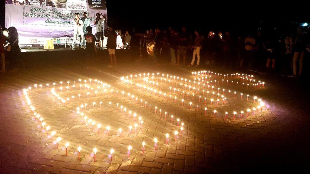 Warga Serang Nyalakan 1.000 Lilin di Earth Hour 2017