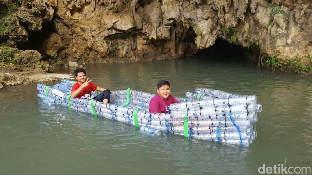 Perahu dari Botol Sampah Gua Pindul, Gunungkidul