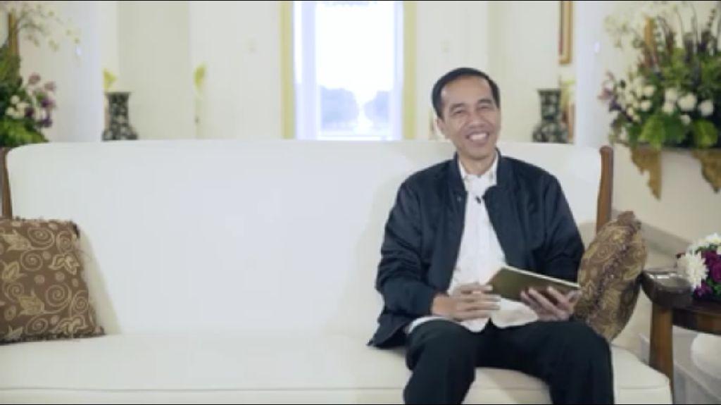Jokowi Menjawab Pertanyaan Netizen dari Metallica sampai Lagu Anak