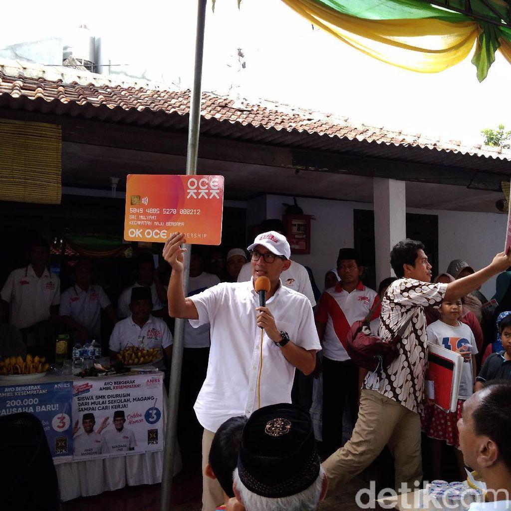 Kalah 1% dari Ahok di Joglo, Sandiaga Minta Dukungan Warga