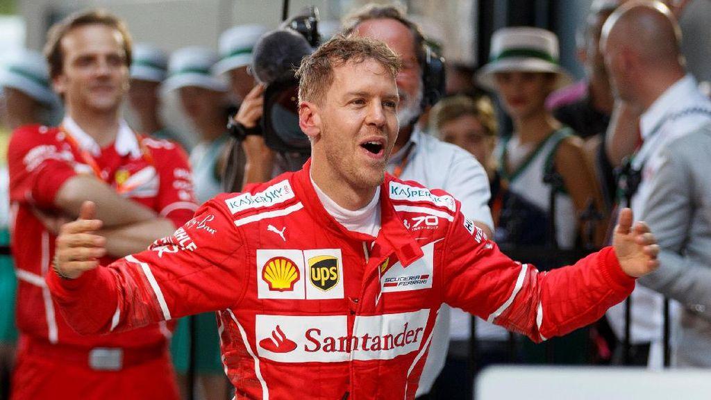 Menangi Seri Pembuka Tak Bikin Vettel Jemawa