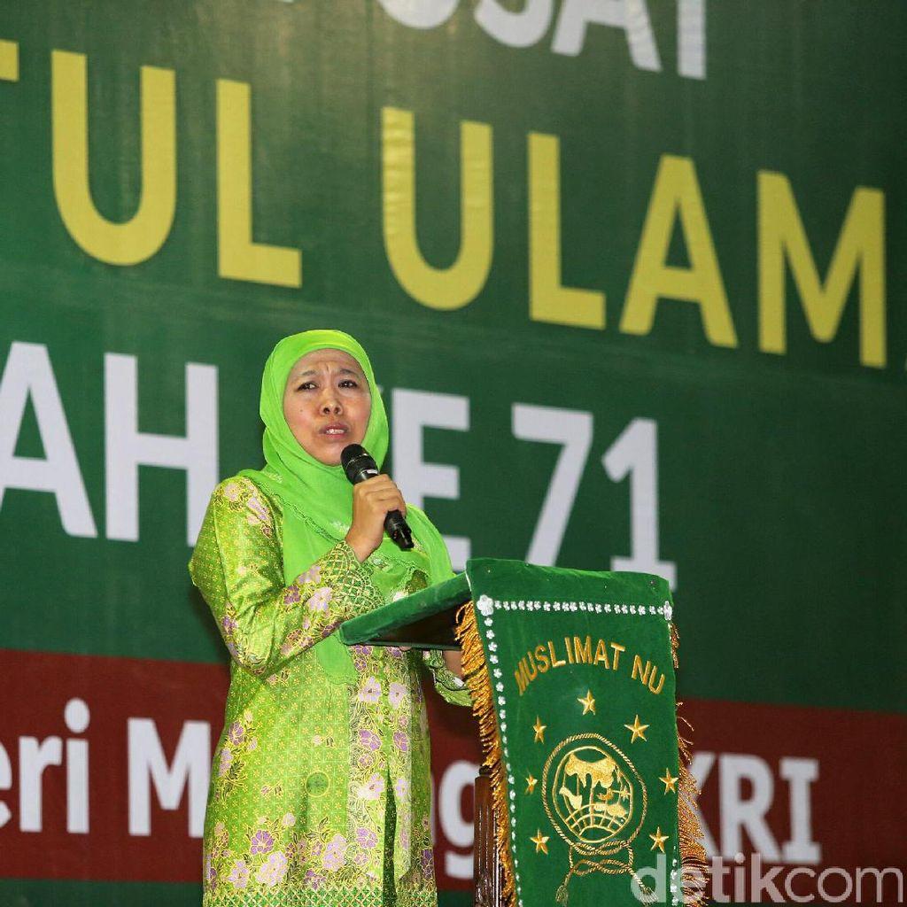 Khofifah Minta Muslimat NU Jaga Bangsa dari Bahaya Narkoba