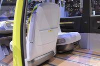 Interior mobil konsep VW I.D. Buzz