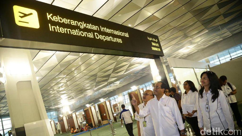 Menhub Cek Kesiapan Layanan Penerbangan Internasional di Terminal 3