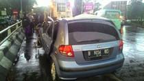 Pohon Tumbang di Jakut Sempat Timpa Mobil, Lalin Sudah Normal