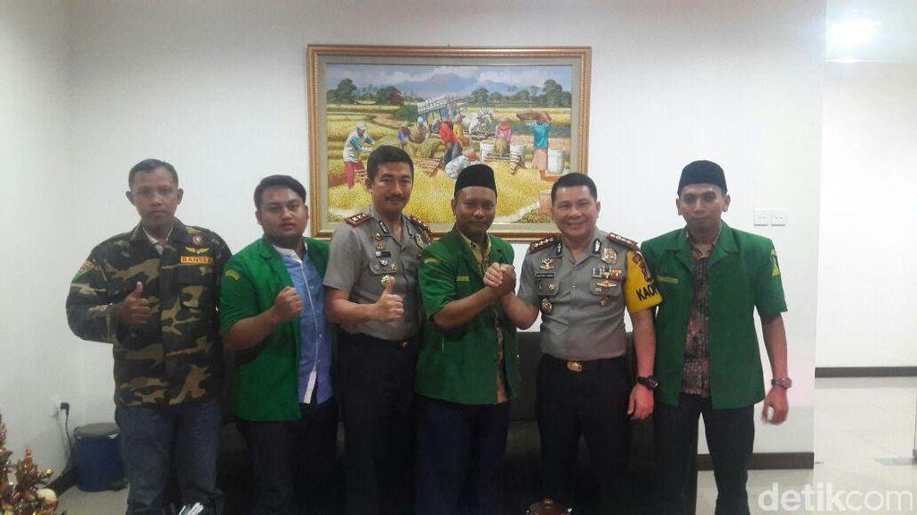 Jaga Keamanan Pilkada, Polres Jakbar Apresiasi GP Ansor