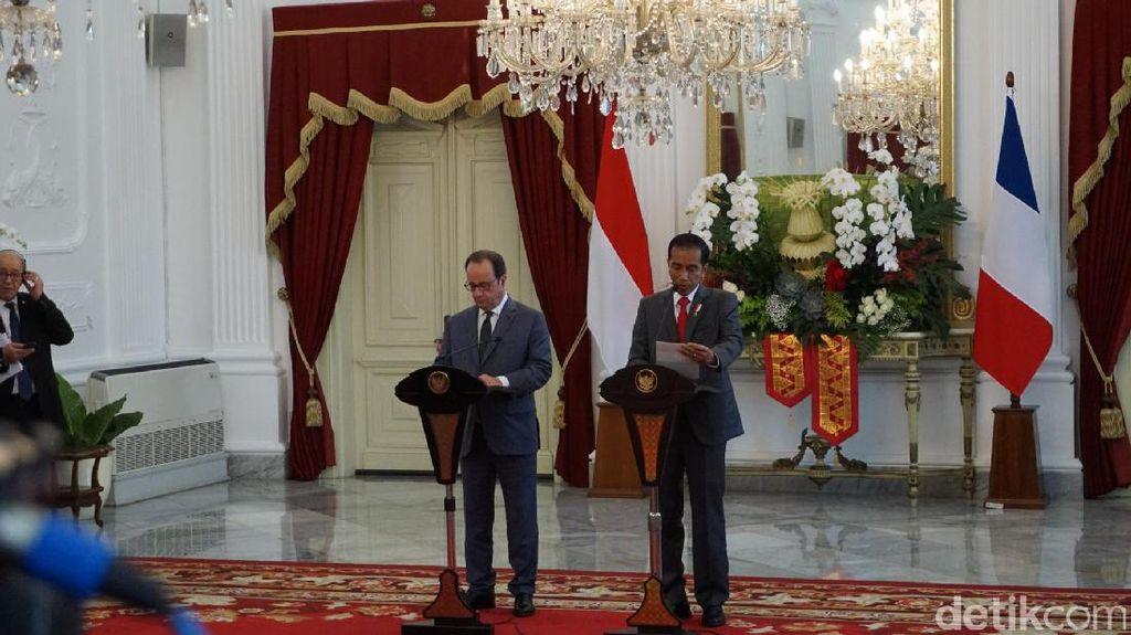 Presiden Prancis Bawa 40 Pengusaha dan Investasi Rp 34 T ke RI