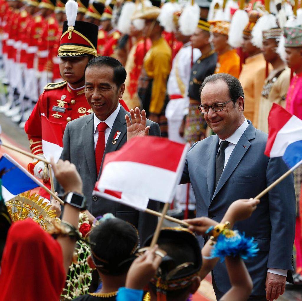 Jokowi Terima Kunjungan Presiden Prancis di Istana